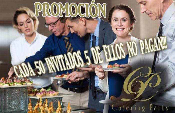 Cada 50 invitados 5 NO PAGAN!!!