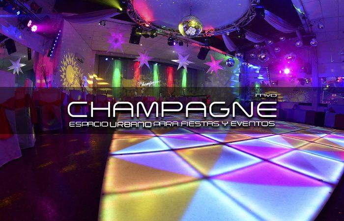 salón de fiestas champagne