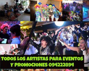 artistas para promociones y eventos