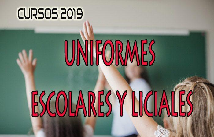 Uniformes escolares y liciales Generación 2019